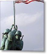 A Close Up Of The Iwo Jima Bronze Metal Print by Michael Wood