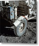 A Close-up View Of The Lunar Roving Metal Print