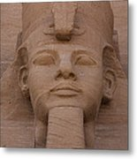 A Close View Of The Face Of Ramses IIs Metal Print