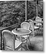 A Cloudy Day On The Porch Metal Print