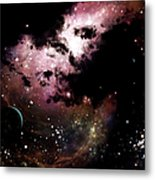 A Cluster Of Bright Young Stars Tear Metal Print