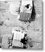 A Coalition Bombing Of Aircraft Hangers Metal Print