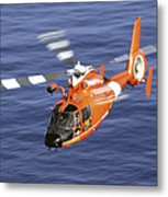 A Coast Guard Hh-65a Dolphin Rescue Metal Print by Stocktrek Images