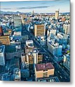 A Cold Day In Sendai Japan Metal Print