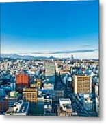 A Cold Sunny Day In Sendai Japan Metal Print