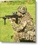 A Coldstream Guard Training In Scotland Metal Print