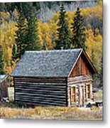 A Colorado Cabin Metal Print