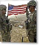 A Commander Re-enlists Master Sergeant Metal Print
