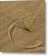 A Compass In The Sand Metal Print