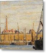 A Continental Harbor Metal Print by William Lionel Wyllie