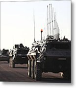 A Convoy Of German Army Tpz Fuchs Metal Print