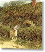 A Cottage At Freshwater Isle Of Wight Metal Print