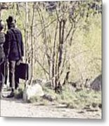 A Couple In The Woods Metal Print