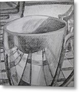 A Cup Of Reflections Metal Print