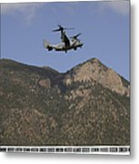 A Cv-22 Osprey Flies Over The 2007 Metal Print