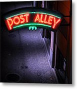 A Dark And Lonely Post Alley - Seattle  Metal Print