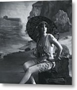 A Day At The Beach 1911 Metal Print