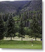 A Day At The Park In Vail Metal Print