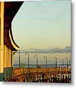 Playland Rye Beach Pier Metal Print
