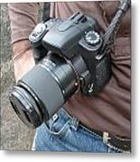 A Digital Camera Is The Chief Tool Of This Photographer Metal Print