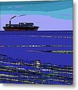 A Distant Ship Metal Print