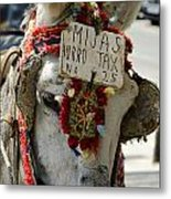 A Donkey Taxi In A Village Of Spain Metal Print