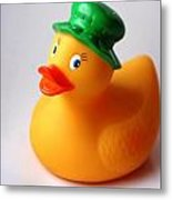 A Duck With Green Hat Metal Print