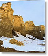 A Dusting On Monument Rocks Metal Print