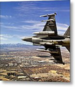 A Fighter Jet Breaks Right On A Final Metal Print