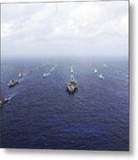 A Fleet Of U.s. Navy And Japan Maritime Metal Print