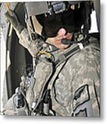 A Flight Medic Conducts A Daily Metal Print