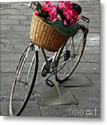 A Flower Delivery Metal Print