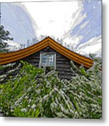 A Flowery House In Norway Metal Print