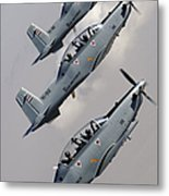 A Formation Of Iraqi Air Force T-6 Metal Print