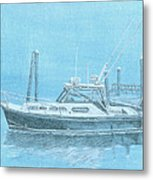 A Fortier Docked In Maine Metal Print