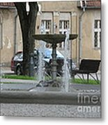 A Fountain In Silute Lithuania Metal Print