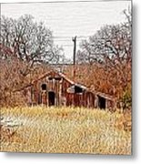 A-frame Barn - No.745 Metal Print