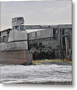 A French Landing Craft Comes Ashore Metal Print