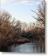 A Frosty Morning On The Elkorn Creek Metal Print