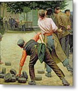 A Game Of Bourles In Flanders Metal Print