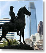 A General And His Horse In Philly Metal Print