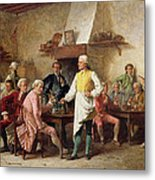 A Gentleman's Debate Metal Print by Benjamin Eugene Fichel