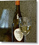 A Glass For Dinner Metal Print
