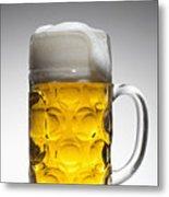 A Glass Mug Of Beer Metal Print