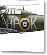 A Gloster Gladiator Mk II Metal Print by Chris Sandham-Bailey