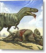 A Gorgosaurus Libratus Stands Metal Print