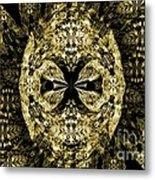 A Gothic Guise Of Gold Metal Print