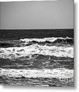 A Gray November Day At The Beach - II  Metal Print