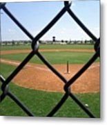 A Great Day For Tball #sports #diamond Metal Print by Kel Hill