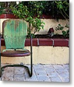 A Green Chair Metal Print